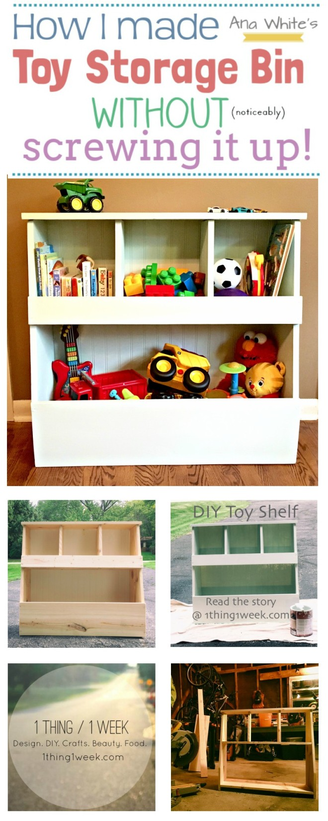 Diy Toy Storage Bin Week 1 1 Thing 1 Week